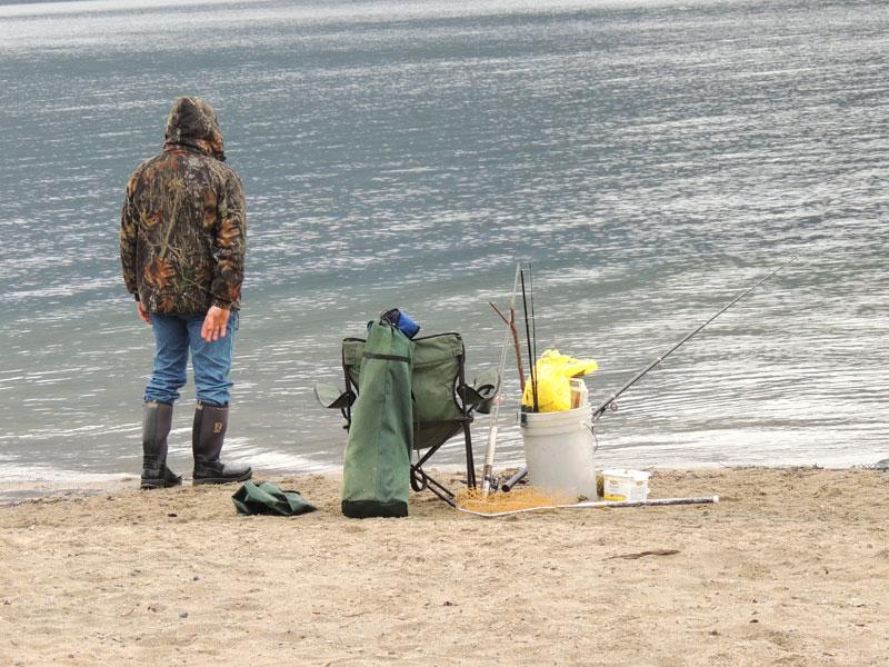 Fishing at the lake - Okanagan Valley