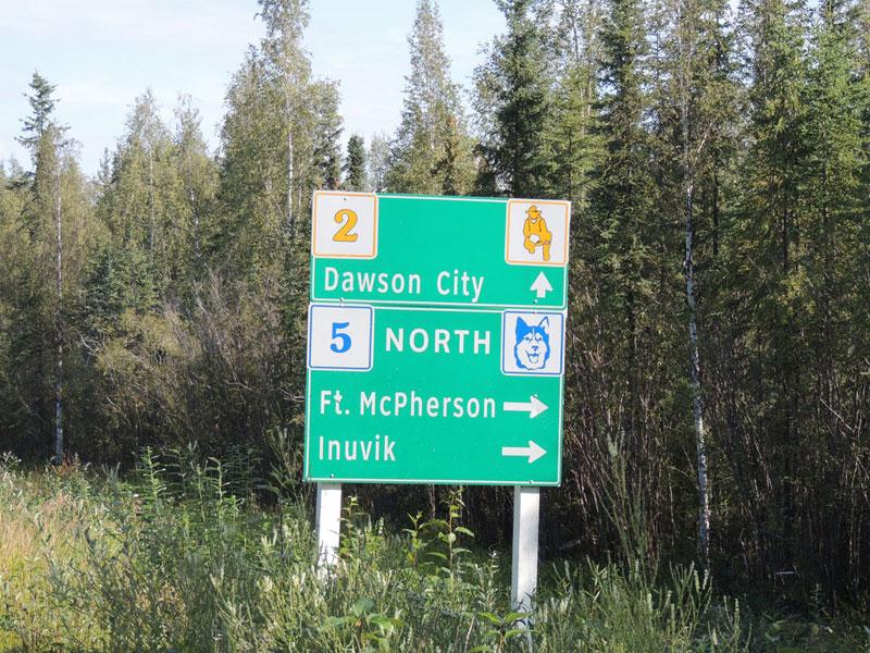 Dawson City Inuvik Junction Yukon