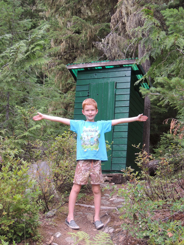 Canadian Outhouse at recreational sites