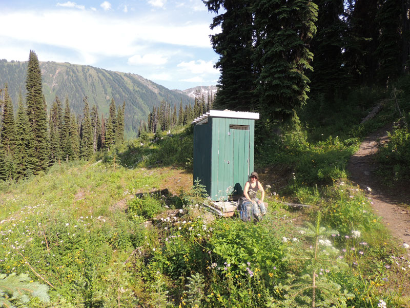 Canadian Outhouse on the trail