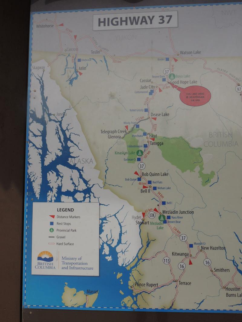 Cassiar Map