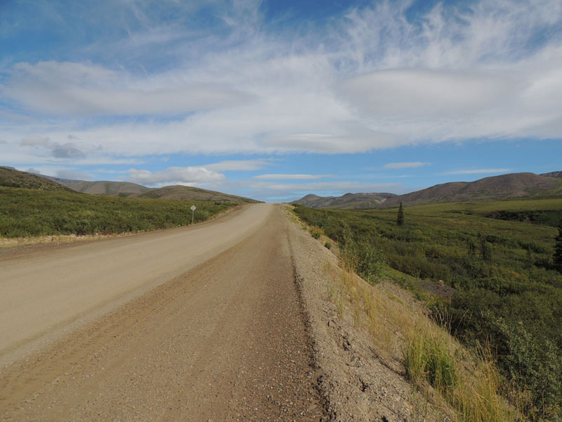 Dempster Highway built on thermafrost