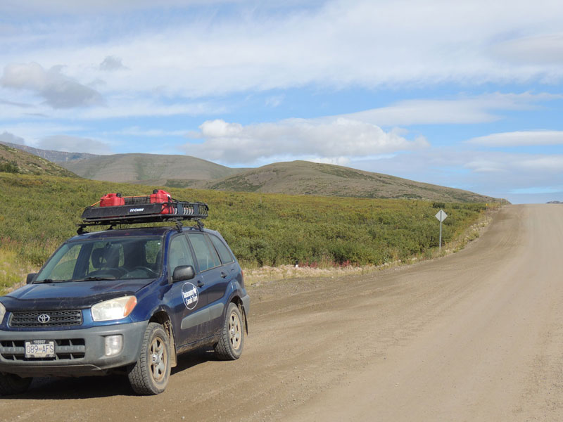Dempster Highway with RAV4