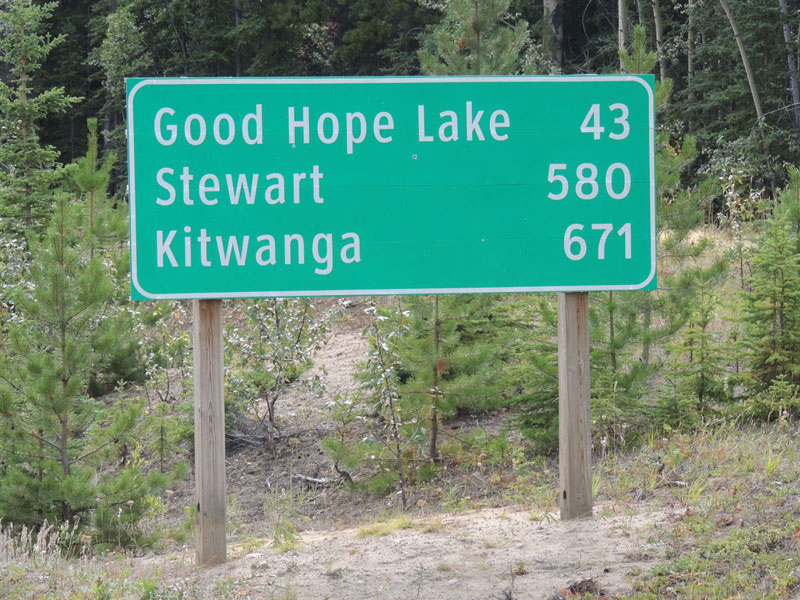 Northern BC - Stewart Sign