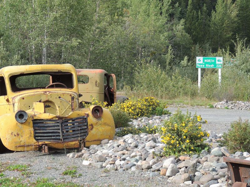 Gravel Travel South Canol Old Car