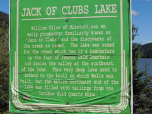 Jack Of Clubs Barkerville Highway