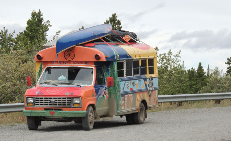 Budget Travel Bus Canada backcountry