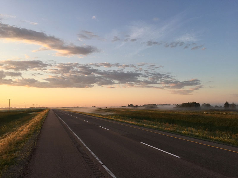 Saskatchewan Canada - wide road