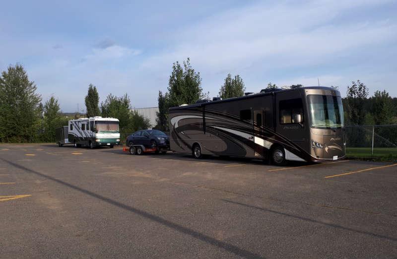 Free camping at parking lot