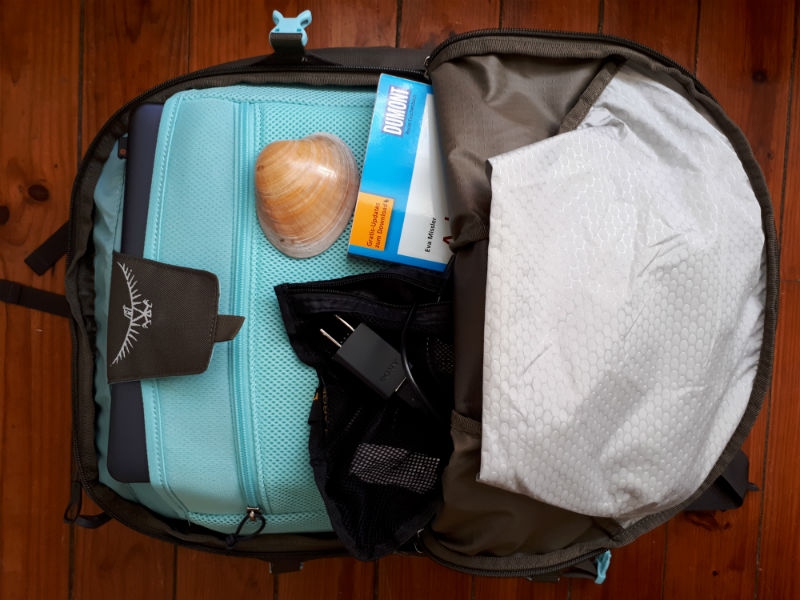 Travel light with carry-on - the backpack I reccommend