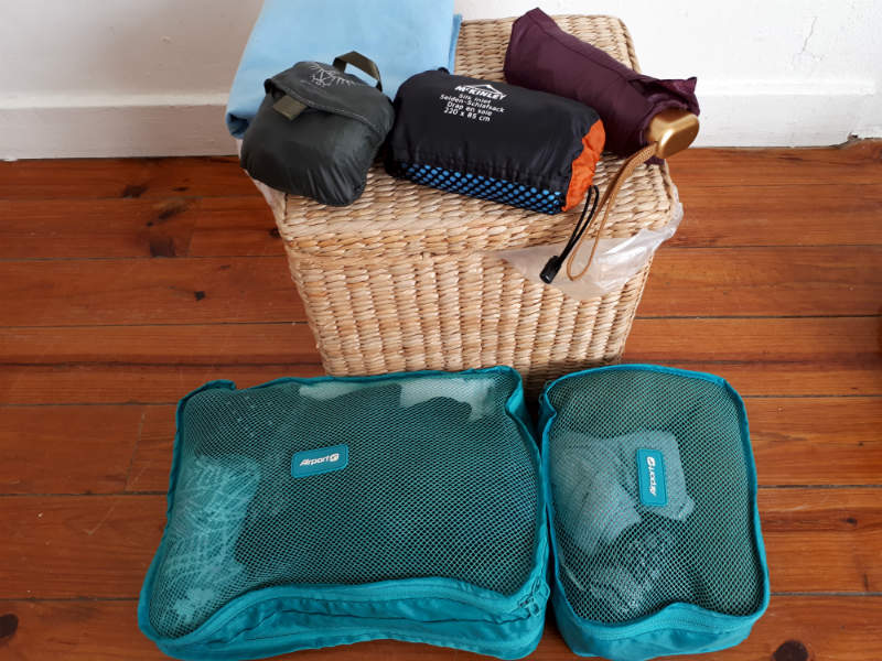 Travel light with carry on - packing cubes