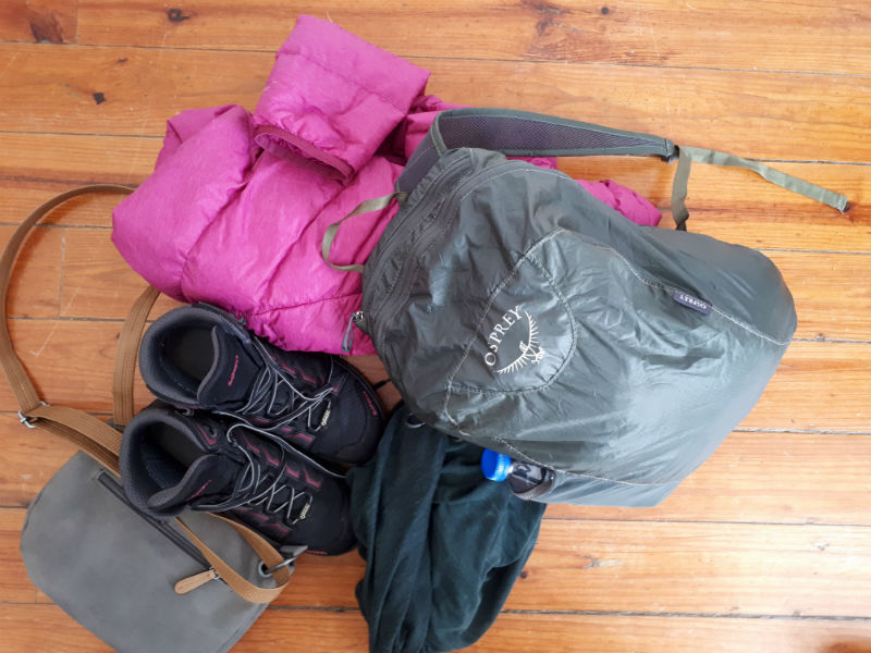 Travel Light with carry-on Osprey Stuff Pack
