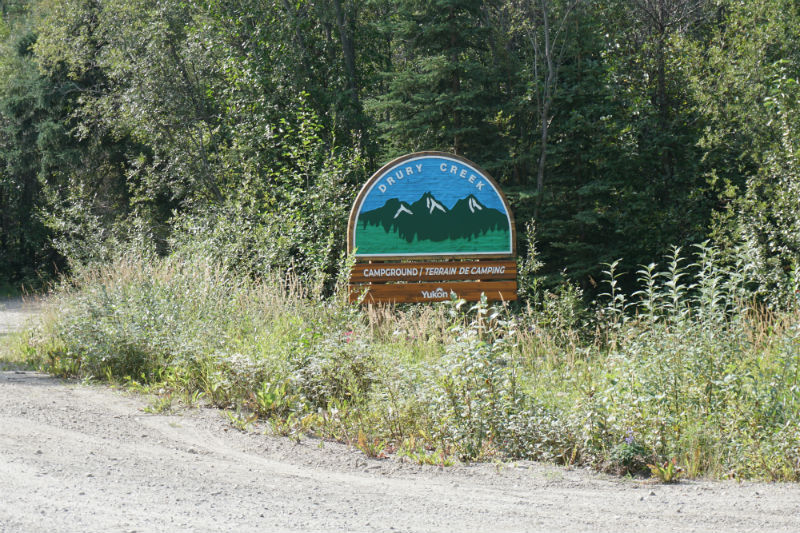 Drury Creek Government Campground Yukon