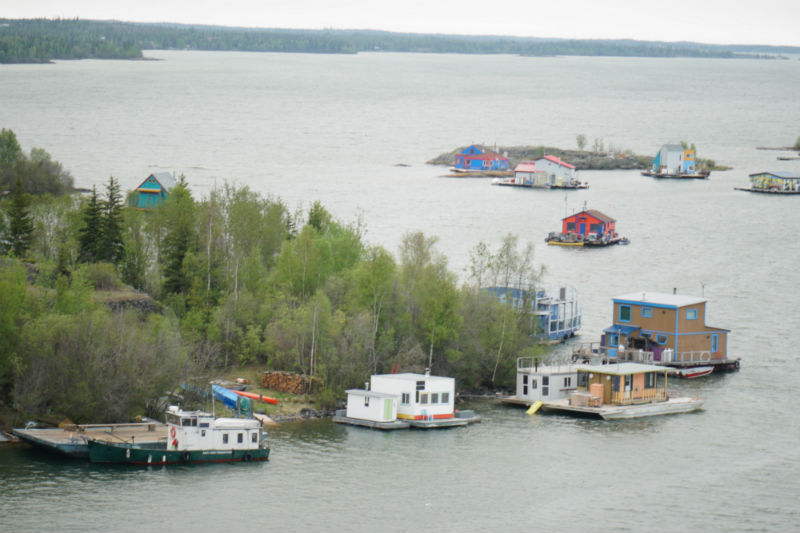 Yellowknife's famous houseboat bay, NWT