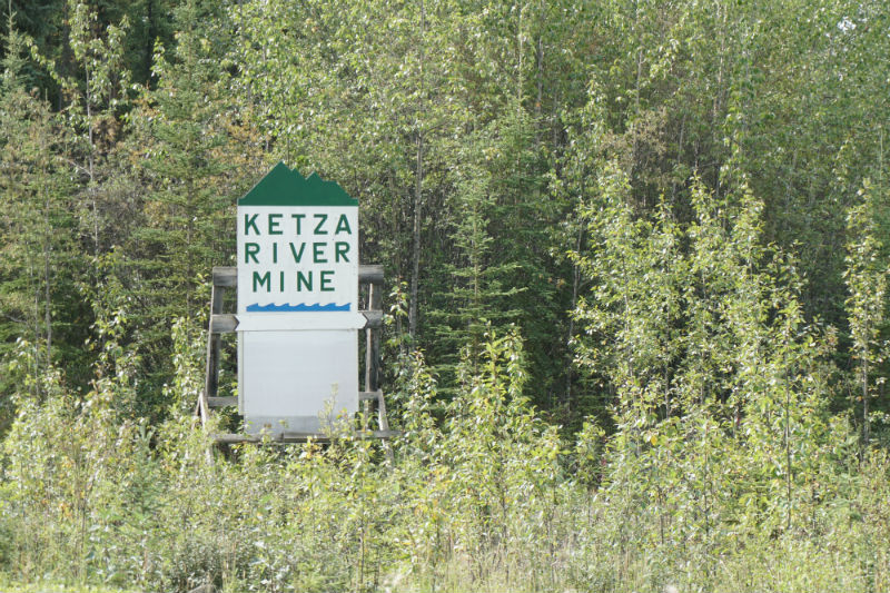 Ketza River is an abandoned gold mine Yukon