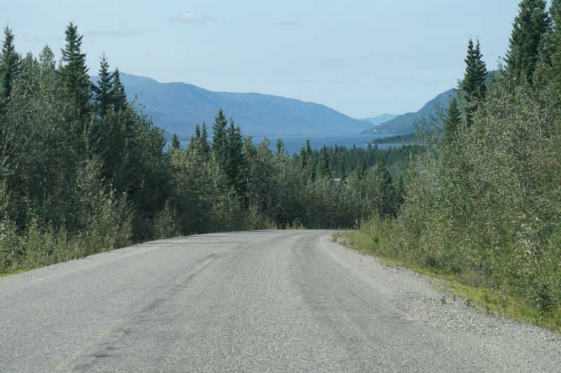 Driving west on the Campbell Highway