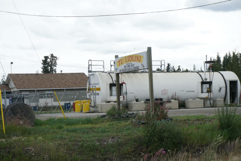 Ross River gas station Yukon