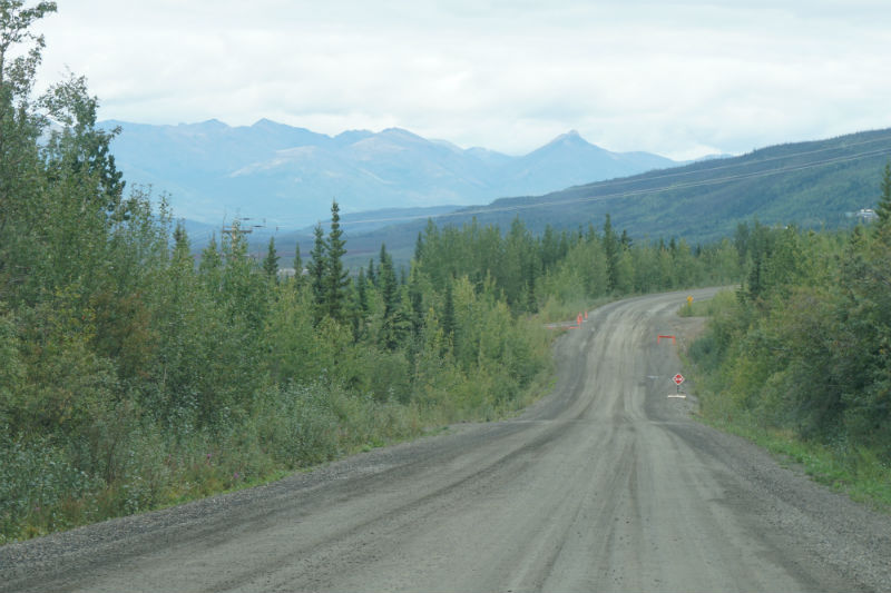 On the gravel road to Keno City Yukon