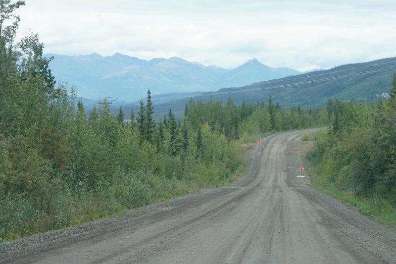 On the gravel road to Keno City Yukon