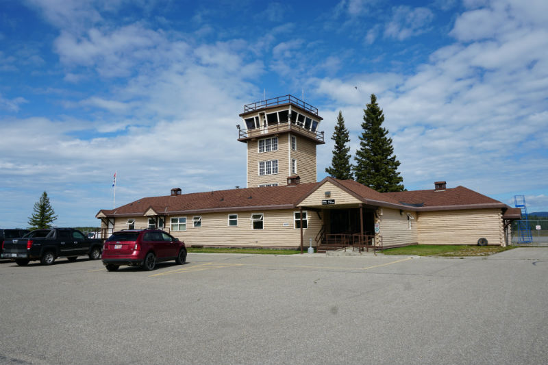Original Terminal Building Watson Lake Airport Yukon