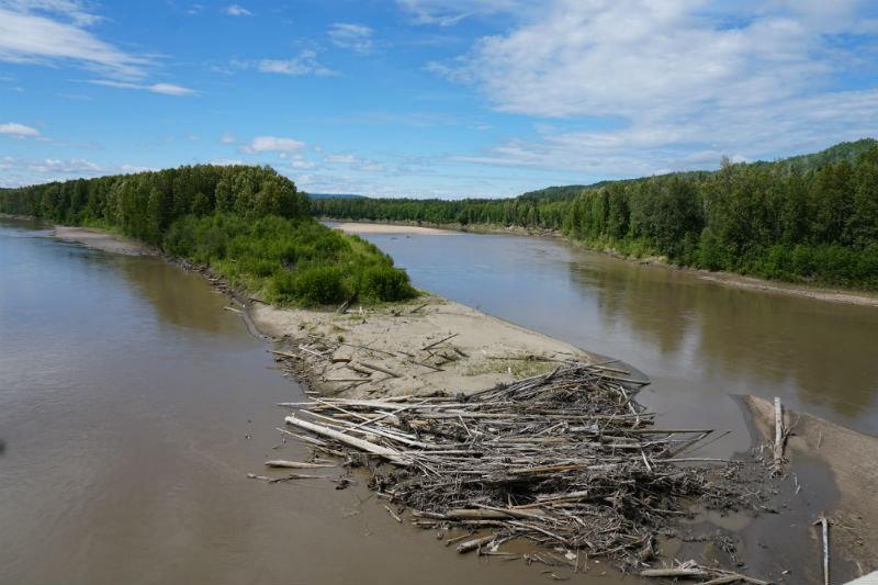 Along the first stretch of the Liard Highway