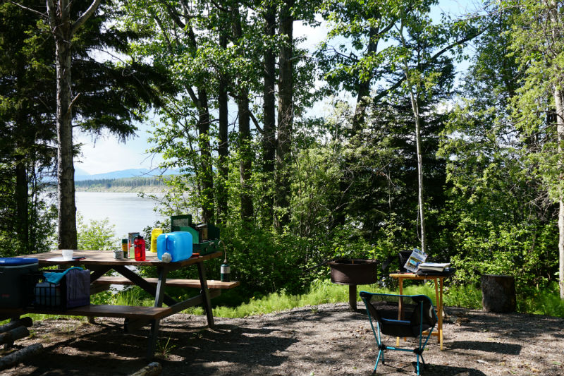 Camping at Blackstone Territorial Park