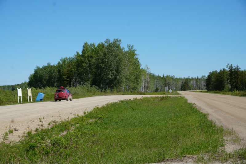 Checkpoint Intersection Liard Highway and Mackenzie Highway