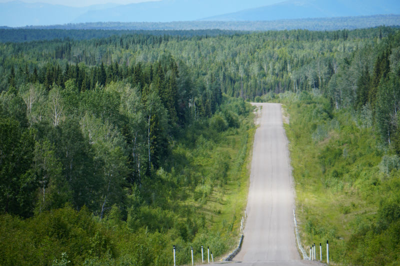 Liard gravel highway