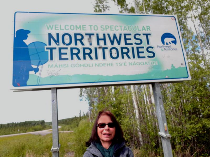 Northwest Territories Border Liard Highway