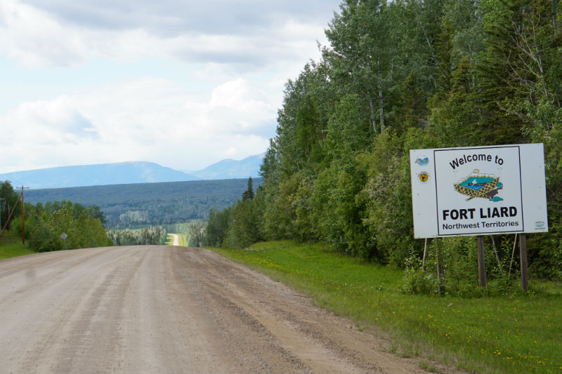 Access Road to Fort Liard, NWT