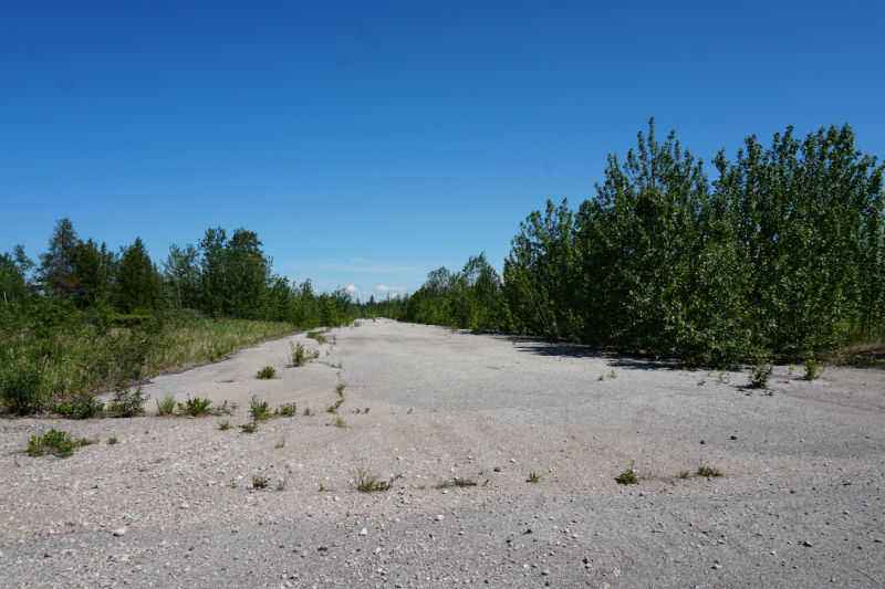All what is left of Pine Point, the old mining town in the NWT
