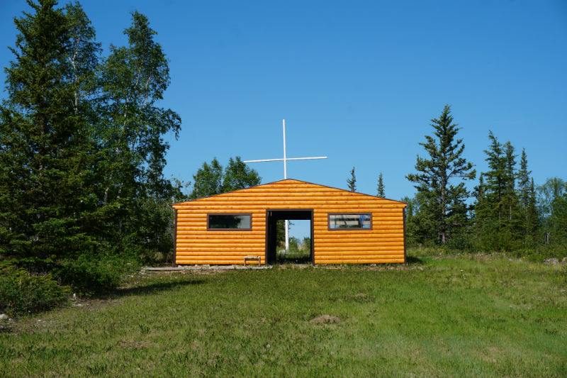 The church at Mission Island, NWT