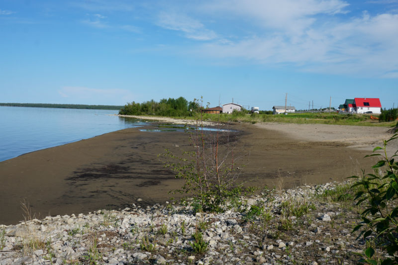Houses along the shores of Great Slave Lake, Fort Resolution NWT