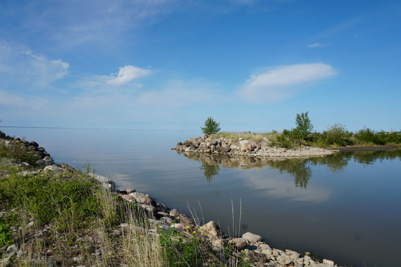 The calm waters at Great Slave Lake, Fort Resolution, NWT