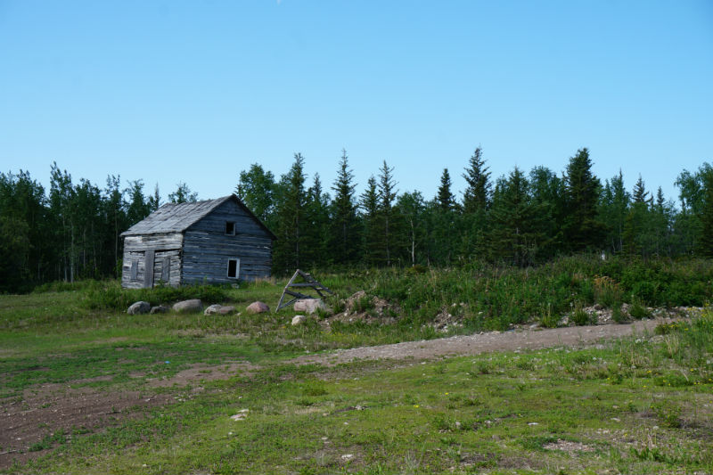 The only original building left at Mission Island near Fort Resolution NWT