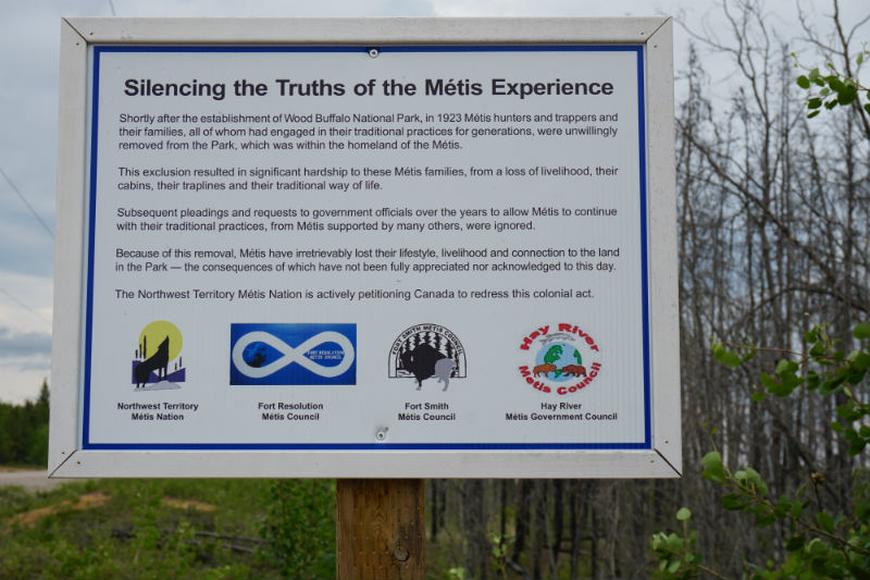 Metis history Wood Buffalo National Park