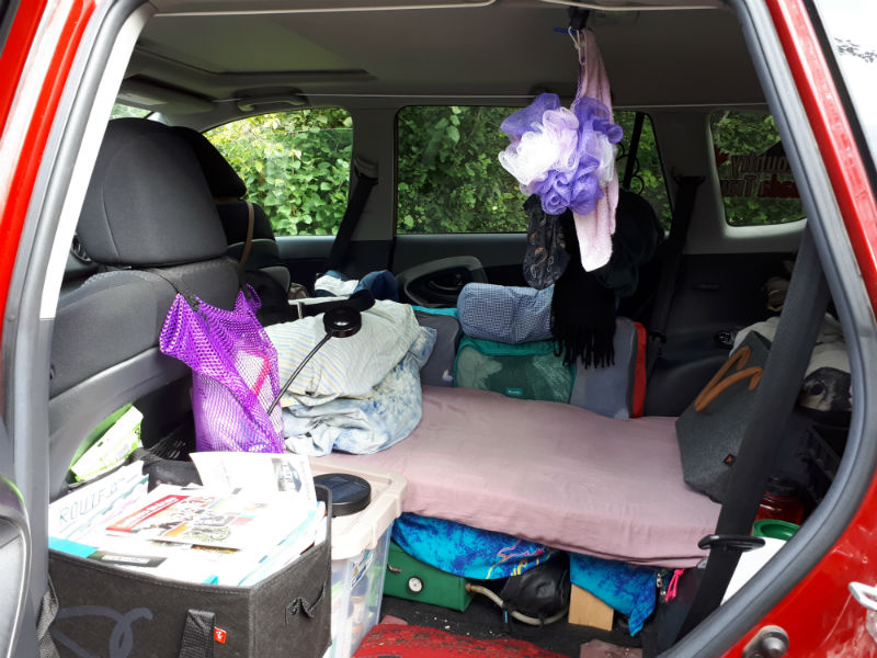 Toyota RAV4 mini camper conversion