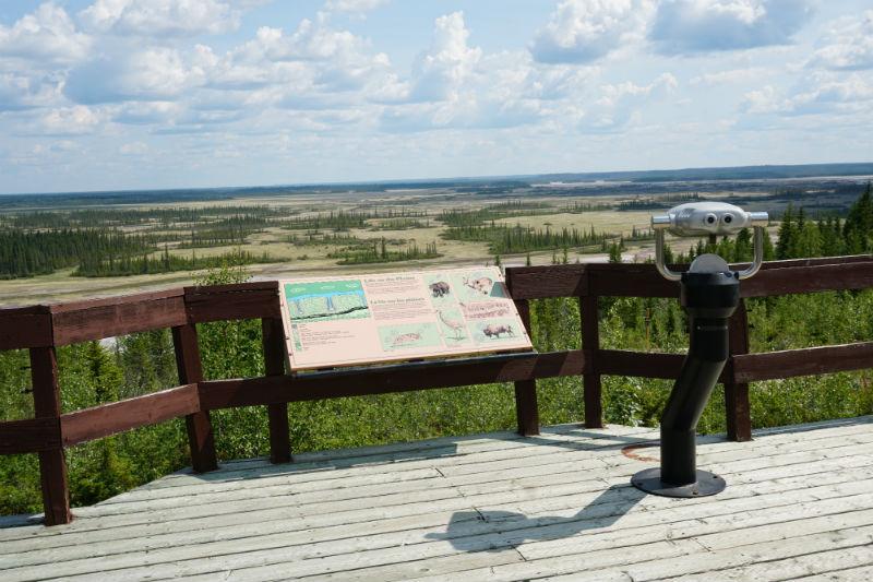 View of salt plains