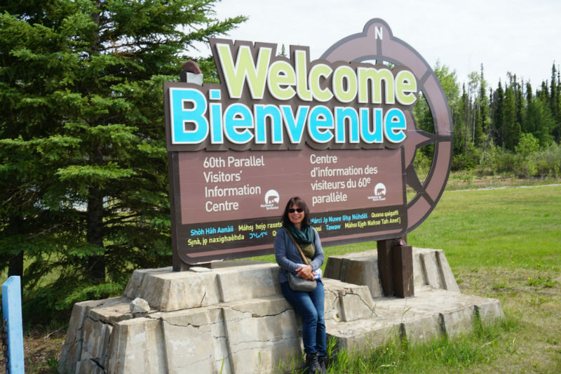 60th Parallel Alberta / NWT border, start of waterfalls Route