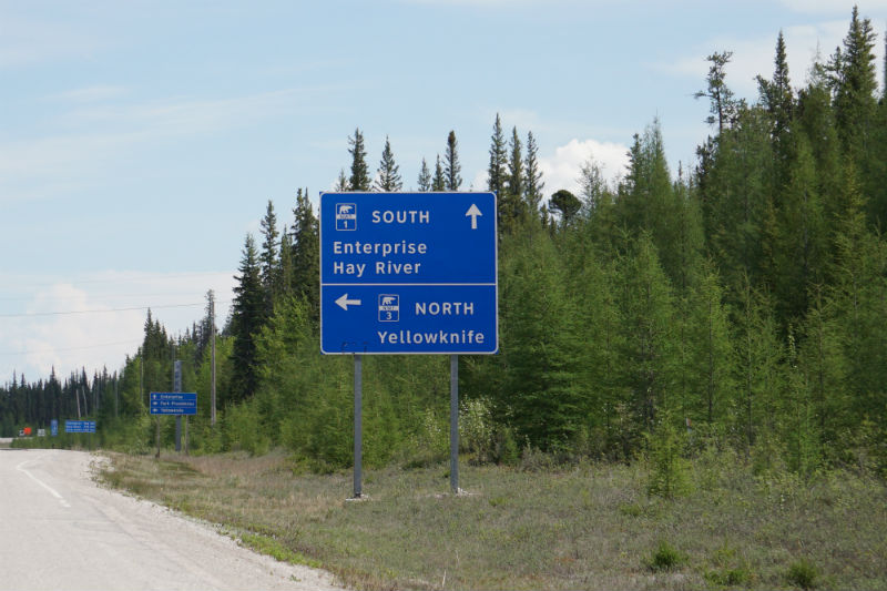 Junction of Highway 1 and 3 NWT