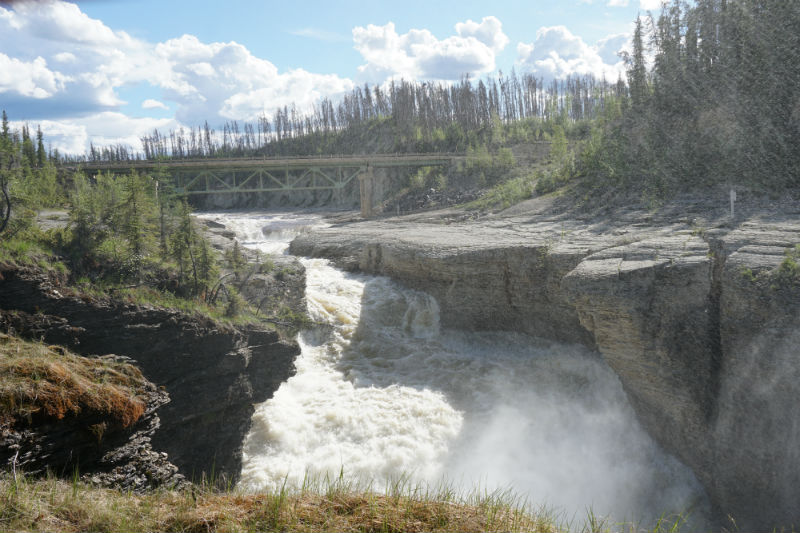 Sambaa Deh Falls and Trout Bridge