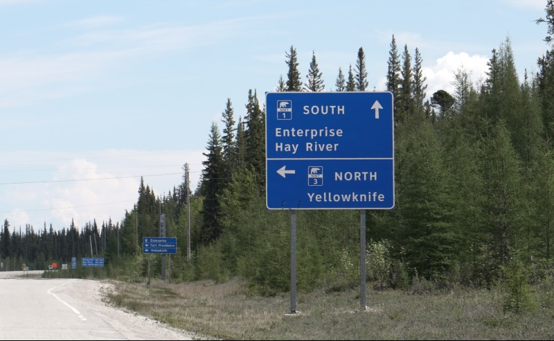 Highway 3 North to Yellowknife