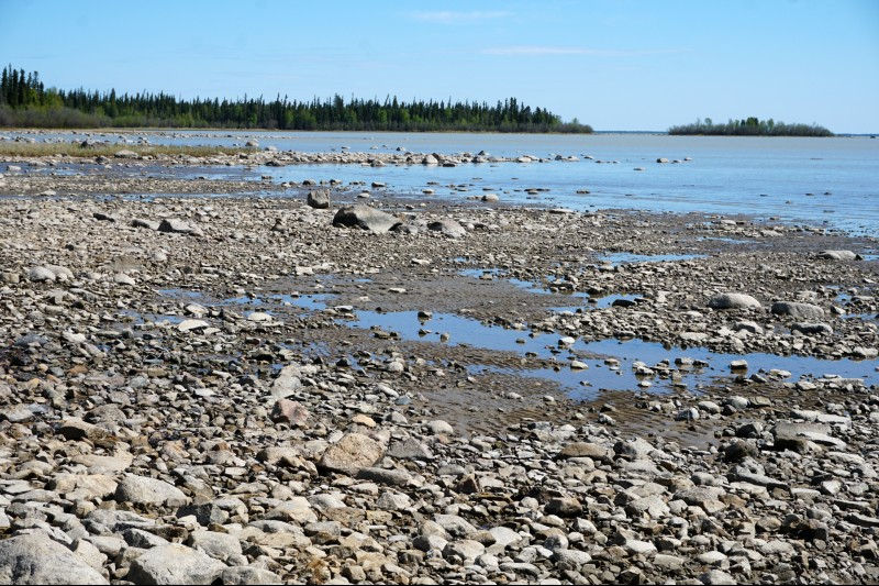 Rocky beach Great Slave Lake NWT