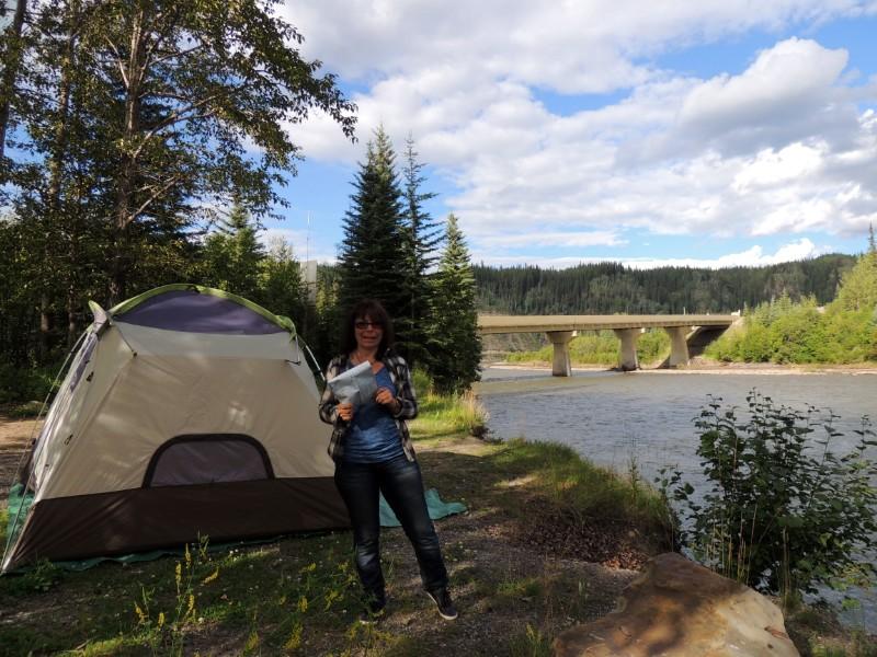 Yukon road trip planner - tenting
