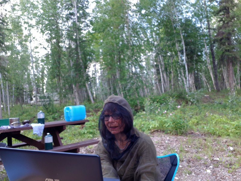 A bug jacket improves camping experience