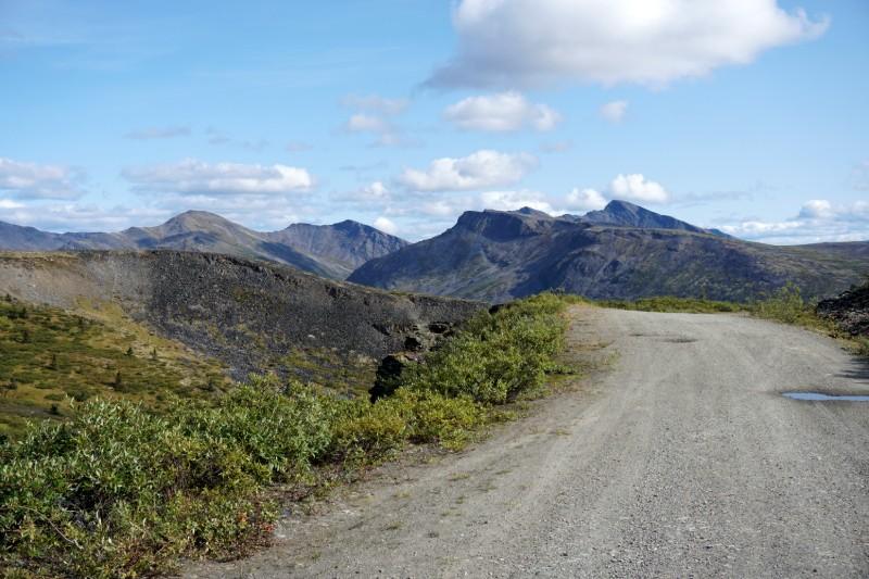 Keno Hill, Yukon gravel