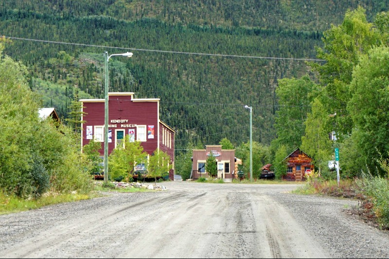Arriving in Keno City, Yukon