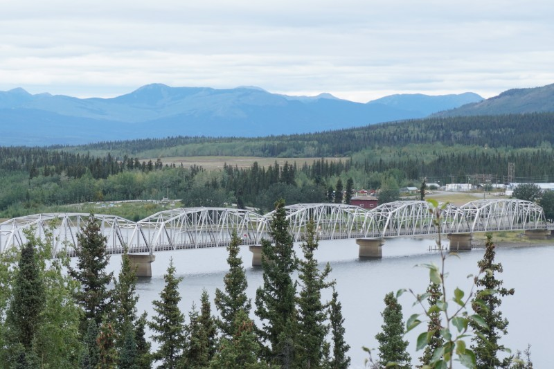Teslin Bridge across Teslin River